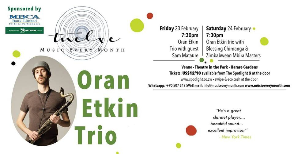 The Oran Etkin Jazz Trio And Timbalooloo Perform In Harare.