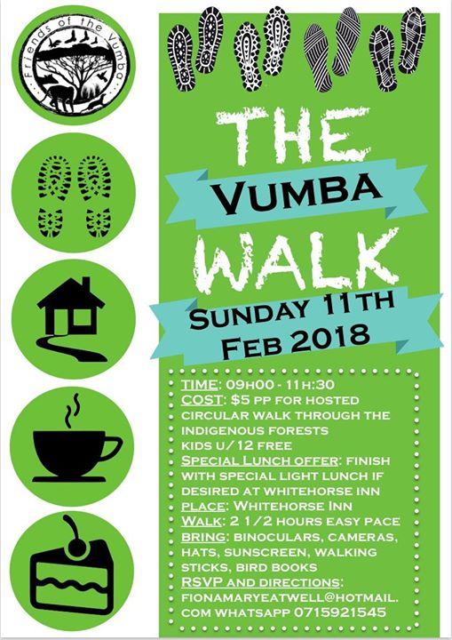 The Vumba Walk: Sunday February 11th