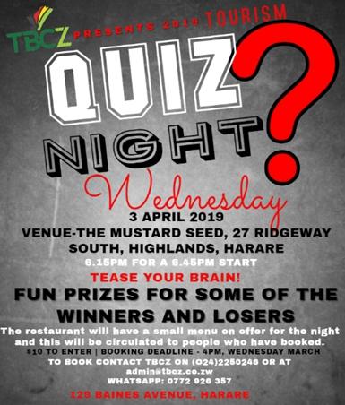 Tourism Quiz Night