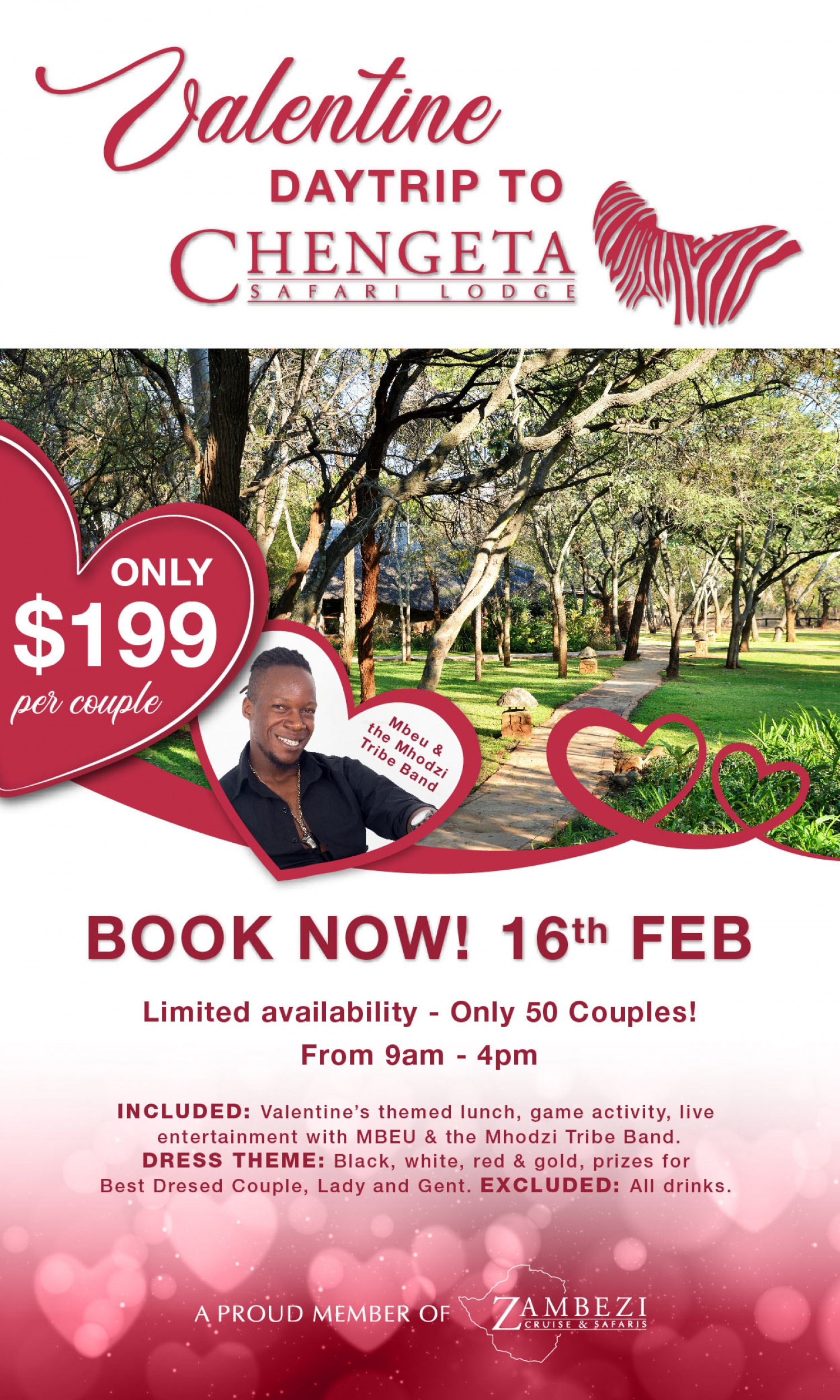 Valentine Day Trip at Chengeta Safari Lodge