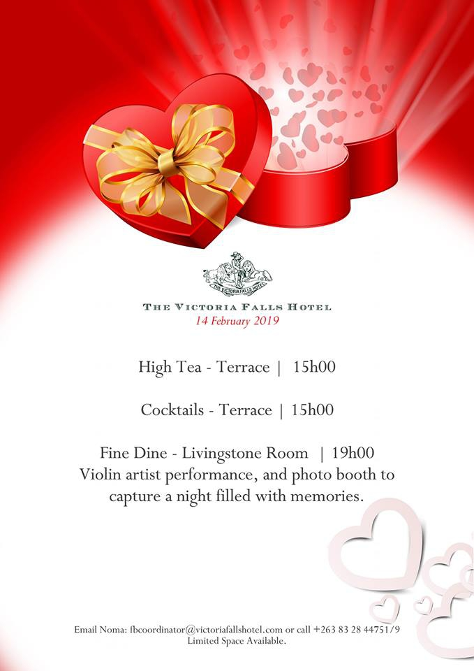 Valentine's Day At Victoria Falls Hotel