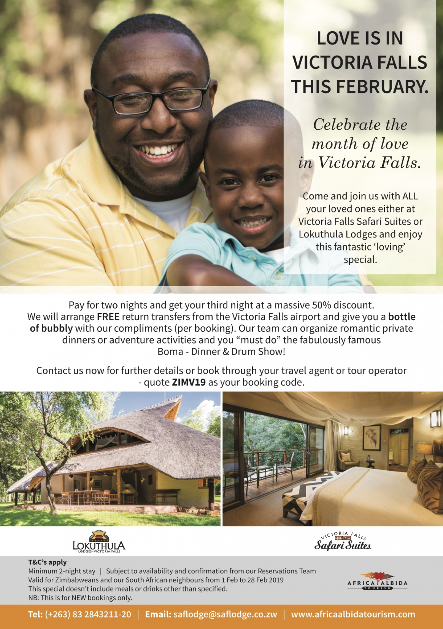 Valentine's Specials at Victoria Safari Suite And Lokuthula lodge
