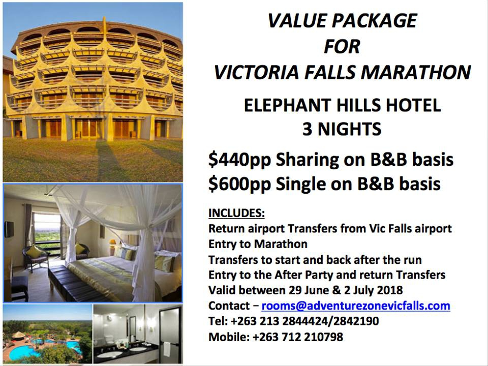 Value Package For Victoria Falls Marathon