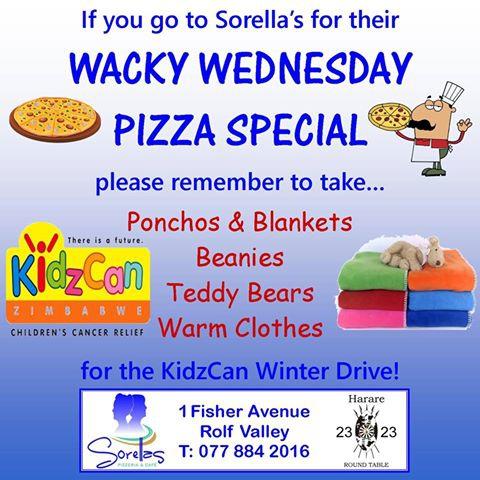 Wacky Wednesday Pizza Special