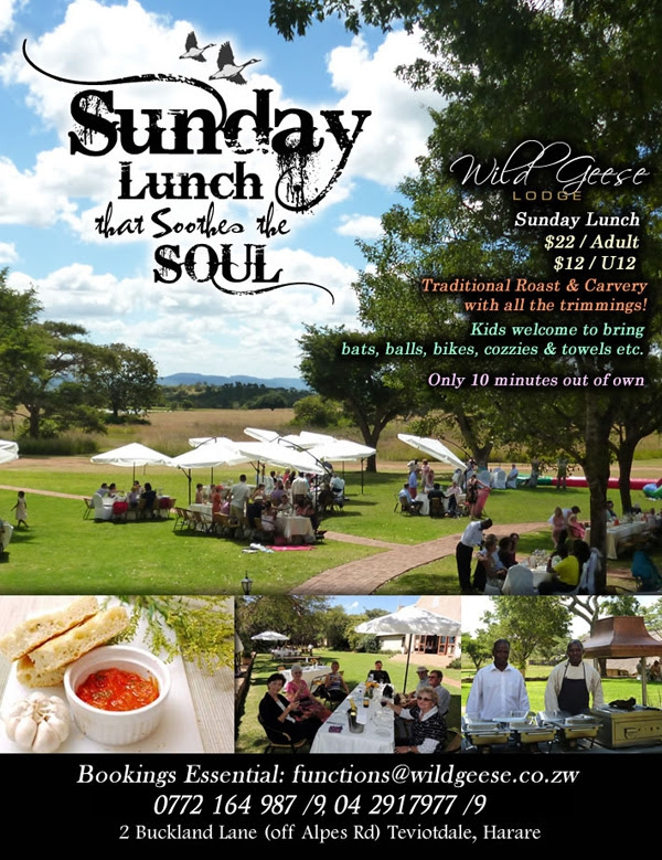 Wild Geese Lodge - Sunday Lunch