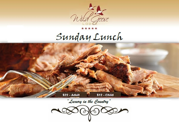Wild Geese Sunday Lunch - 14th January 2018
