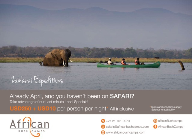 Zambezi Expeditions April Special
